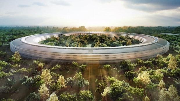"""Apples neue Firmenzentrale: Weitere Bilder des riesigen """"Mutterschiffs"""""""