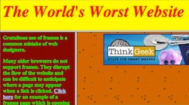 Die schlechteste Website der Welt - alles was man falsch machen kann
