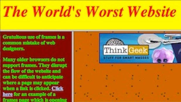 Die schlechteste Website der Welt – alles was man falsch machen kann
