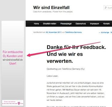 """""""Wir sind Einzelfall"""": O2 übt sich in Kundennähe, Telekom in Häme"""