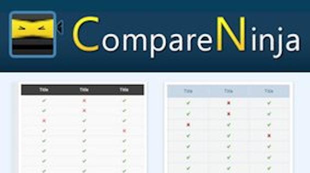CompareNinja: Schicke Vergleichstabellen mit HTML und CSS