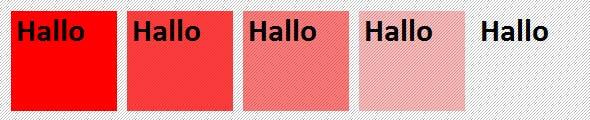 CSS3: Farbtransparenz
