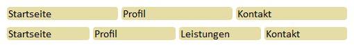 CSS: Listenmenü als Tabelle