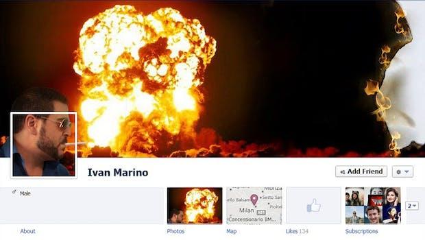 Mit der Facebook-Chronik wurde der Weg freigemacht für unzählige coole Collagen. (Screenshot: Ivan Marino - Facebook-Chronik)