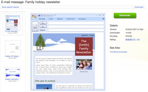 Weihnachtsgrüße Outlook Vorlagen.Newsletter Selbst Gemacht Tipps Und Templates Für Die Weihnachtspost