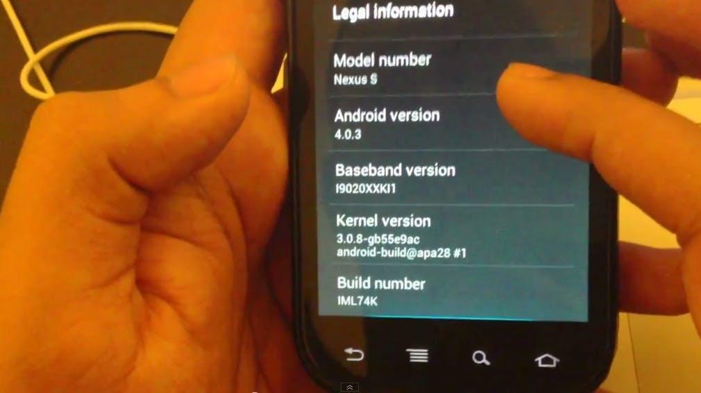 Nexus S manuell auf Android 4.0.3 bringen - So geht's