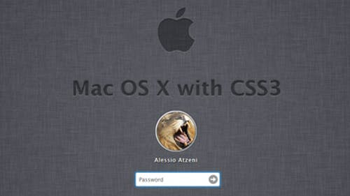 CSS3-Experiment: Mac-Login-Screen komplett nachgebaut