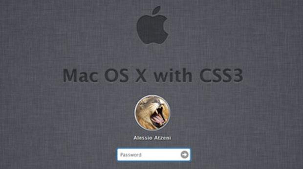 CSS3-Experiment: Mac-Login-Screen komplett nachgebaut