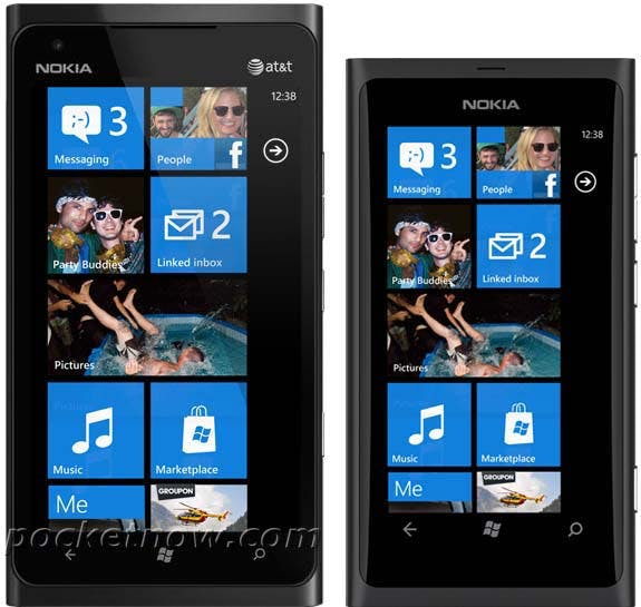 Nokia Lumia 800 vs Lumia 900