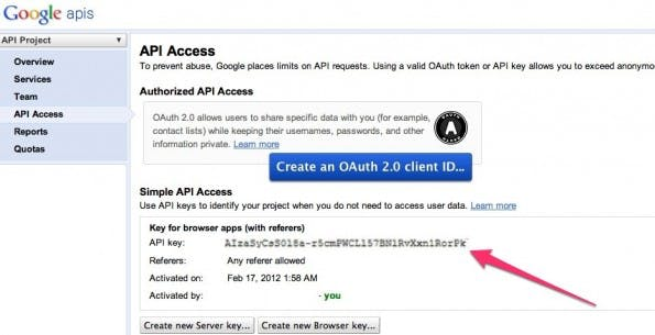 Google Plus to RSS APIs Console