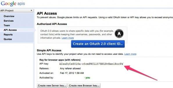 Google Plus to RSS APIs Console