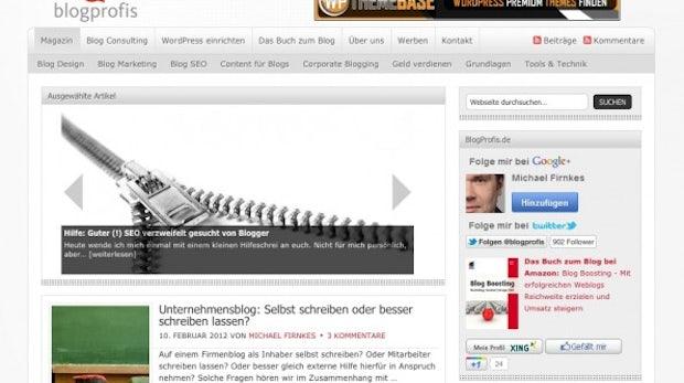 """Blog-Highlight Blogprofis.de: """"Der Blog ist mehr Hobby und Berufung als Beruf"""""""