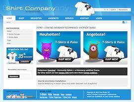 Contao webShop Startseite Demosystem