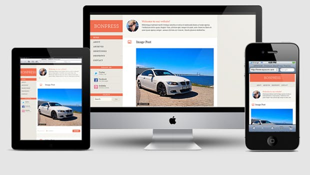 Responsive WordPress-Theme: BonPress