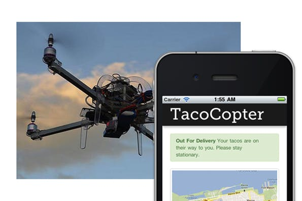 Der TacoCopter liefert Tacos nach Hause.