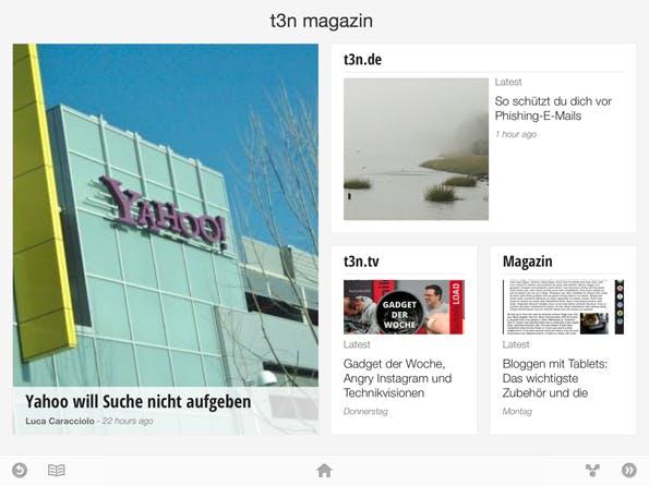Die t3n-Edition für Google Currents auf dem iPad