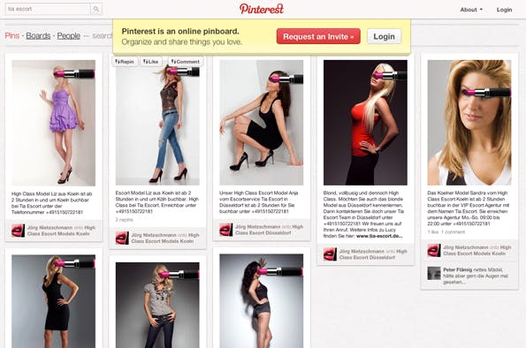 Tia Escort bei Pinterest