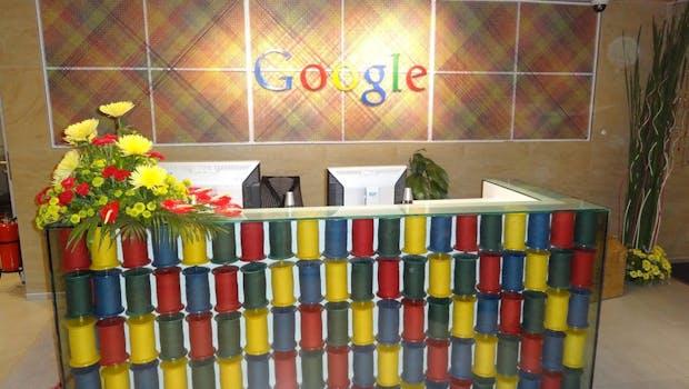 So sieht der Eingangsbereich der Google Büros in Mumbai aus (Bild:Google Indien).