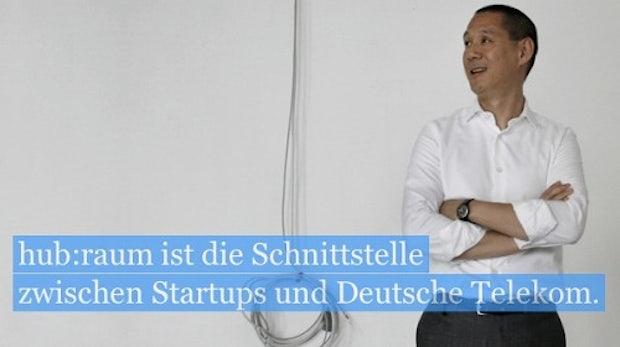 Telekom-Chef Obermann stellt Inkubator-Programm hub:raum für Startups vor [NEXT12]