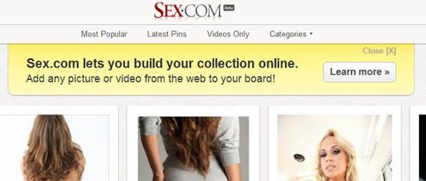 Sex.com – Teuerste Domain der Welt kopiert Pinterest schamlos