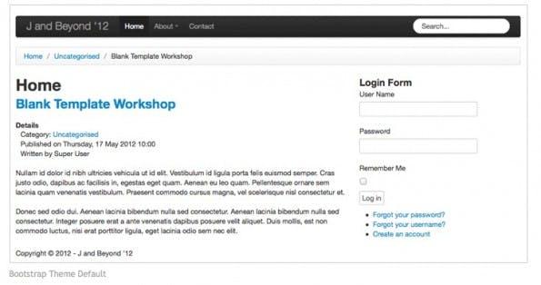 joomla empty template wie man mit joomla und bootstrap responsive designs