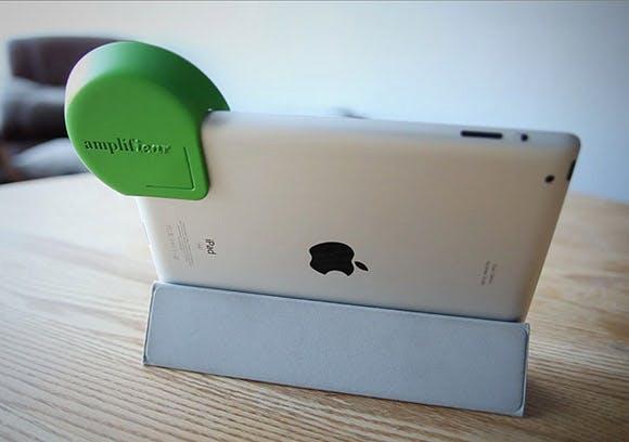 Die wohl einfachste Lösung, den iPad-Lautsprecher zu verstärken
