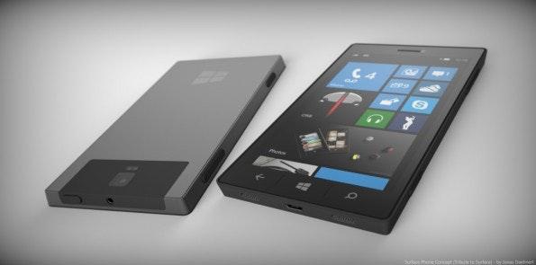 Im nächsten Jahr soll Microsoft angeblich ein Surface Phone vorstellen. (Bild: Phone Designer)
