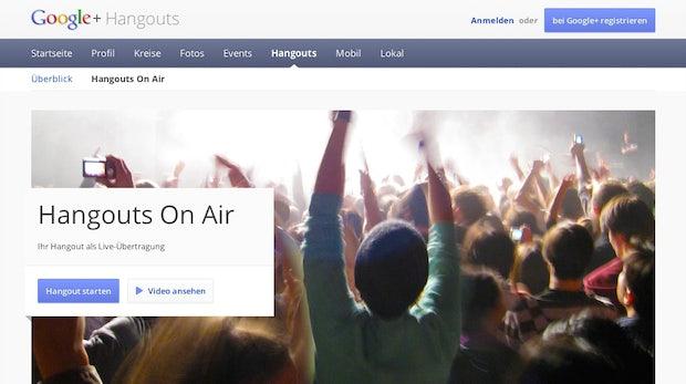 Google+: Hangouts on Air in Deutschland gestartet