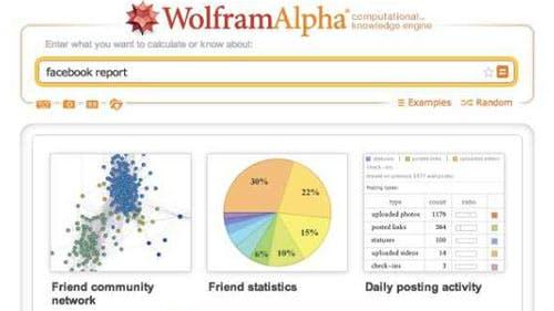 Facebook Profilanalyse: Wolfram Alpha zeigt, was Facebook über uns weiß