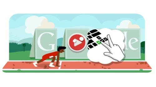 Olympisches Hürdenlauf-Google Doodle: Knack den Weltrekord