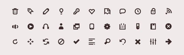 10 kostenlose Mini-Icon-Sets für Webdesigner