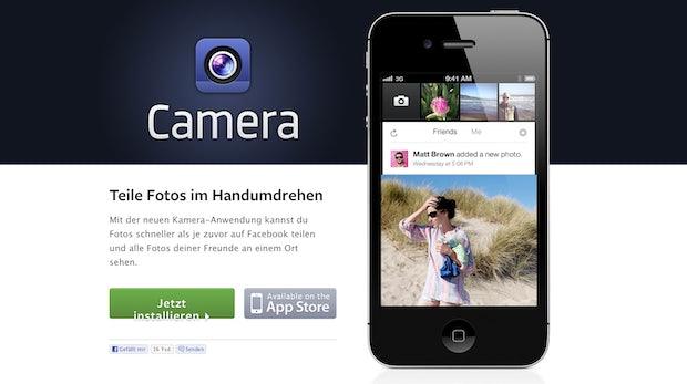 Facebook Camera: iOS-App jetzt auch im deutschen App-Store