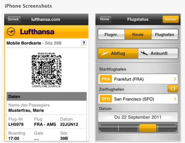 Lufthansa gehört zu den ersten deutschen Anbietern, die Passbook nutzen.
