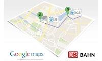 Google Maps zeigt Fahrpläne der Deutschen Bahn