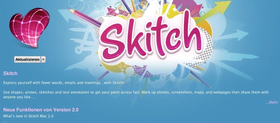 Mac-Nutzer sollten sich genau überlegen, ob sie auf Skitch 2.0 aktualisieren wollen.