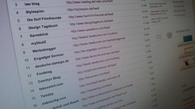 Blog-Ranking: Die Top 100 der deutschen Blogfeeds