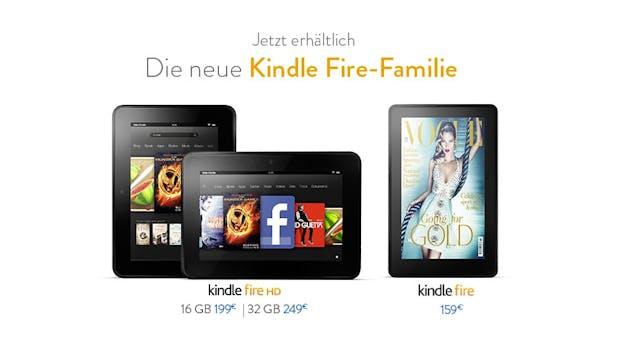 Amazon: Kindle Fire und Fire HD jetzt in Deutschland erhältlich