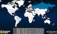 Interaktive Karte visualisiert Cyberattacken weltweit
