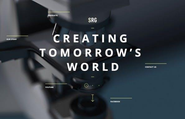 Parallax Scrolling: Srgint präsentiert auf dieser Website die eigenen Produkte und Visionen.