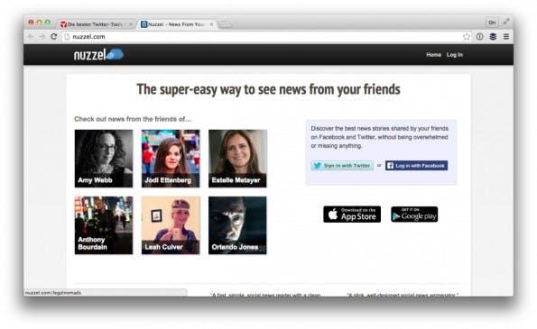 Das Twitter-Tool Nuzzel liefert dir Einblicke in die Interessen deiner Follower. (Screenshot: nuzzel.com)