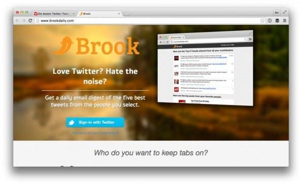 Brook verschafft dir einen Überblick. (Screenshot: brookdaily.com)