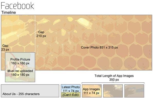 Infografik zeigt alle Social-Media-Bildgrößen im Überblick