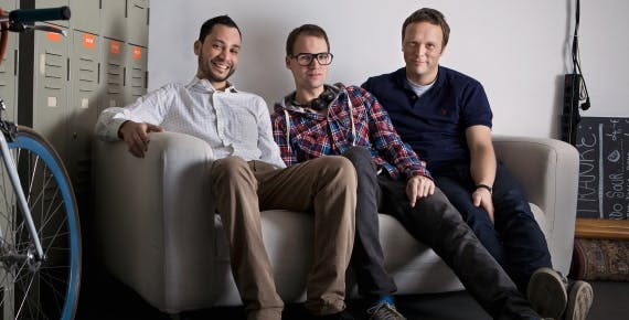 doctape Gründer Ricardo Ferrer Rivero, Sascha Reuter und Sven Hohlfeld (v.l.).