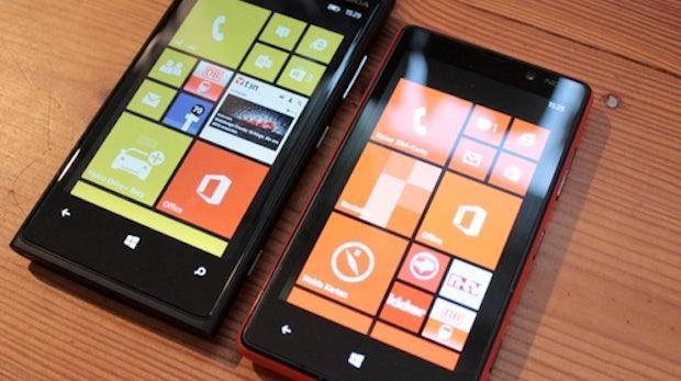 Nokia Lumia 820 und Lumia 920: Windows-Phone-8-Modelle im Vergleich