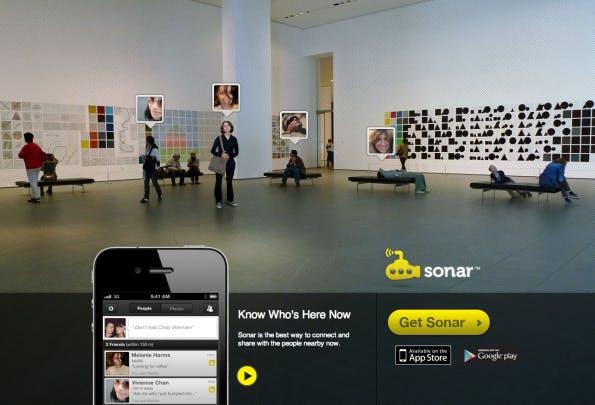 Die App Sonar legt ein etwas anderen Schwerpunkt: Hier geht es um Kontakte, die man bereits aus seinen Social-Media-Kanälen kennt