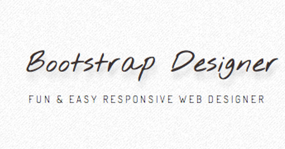 Bootstrap Designer: HTML5-Template-Tool unter der Lupe | ❤ t3n