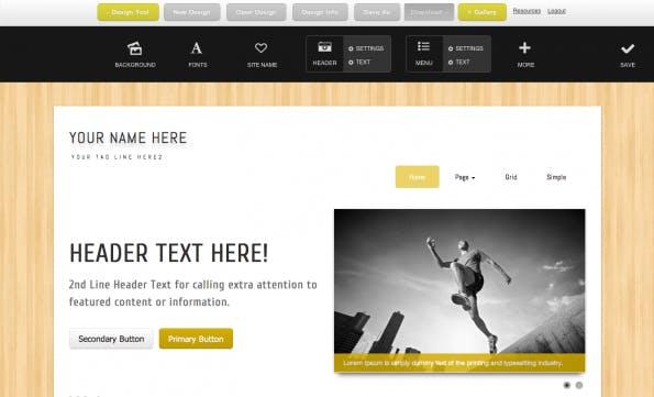 Bootstrap Designer Beispieltemplate