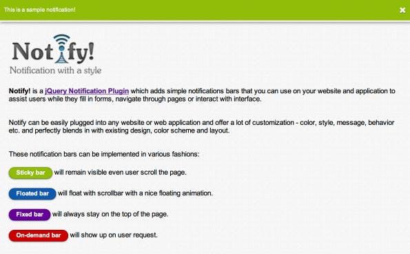 Screenshot von Notify!