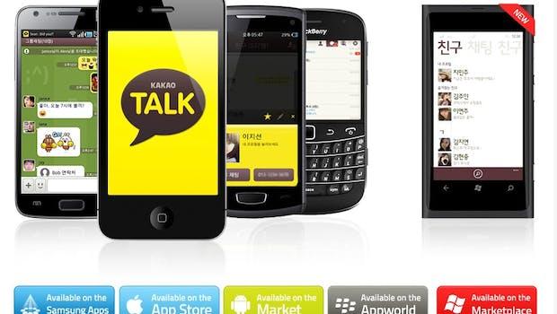 Kakaotalk: Der Dienst mit dem leckeren Namen ist vor allem in Südkorea weit verbreitet und zählt nach eigenen Angaben insgesamt über 140 Millionen Nutzer (Stand: Mai 2014) – ein Großteil ist allerdings im Heimatland des Dienstes verortet. Auch Kakaotalk bietet Apps für die meisten verfügbaren mobilen Plattformen: Von iOS, Android über Windows Phone zu Blackberry und Bada ist alles vertreten. (Bild: Kakaotalk)