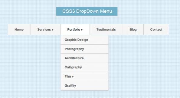 OurTuts DropDown-Menü mit HTML5 und CSS3 (inkl. Tutorial)
